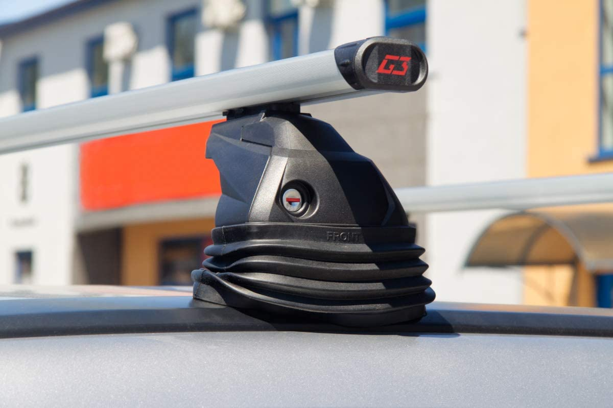 G3 Aluminium Dachtr/äger zur Montage an vorgegebene Befestigungspunkte des Fahrzeugs hochwertig
