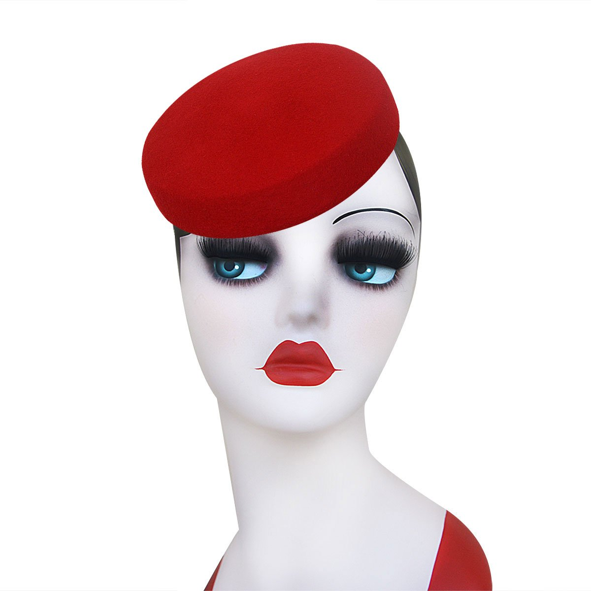 1950s Women's Hat Styles & History Lawliet Circle Wool Felt Pillbox Beret Hat millinery Fascinator Base Craft A215 $16.99 AT vintagedancer.com