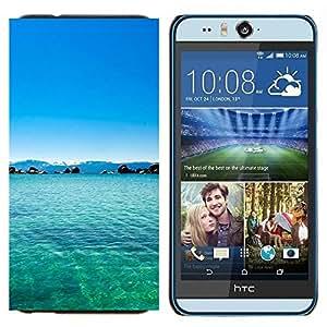 TECHCASE---Cubierta de la caja de protección para la piel dura ** HTC Desire Eye ( M910x ) ** --Filipinas Sueño Blue Lagoon Paradise