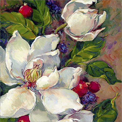 Magnolia Squsre 1 by Barbara Mock Laminated Art Print, 22 x 22 inches