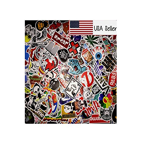 100 Random Skateboard Stickers bomb Vinyl Laptop Luggage
