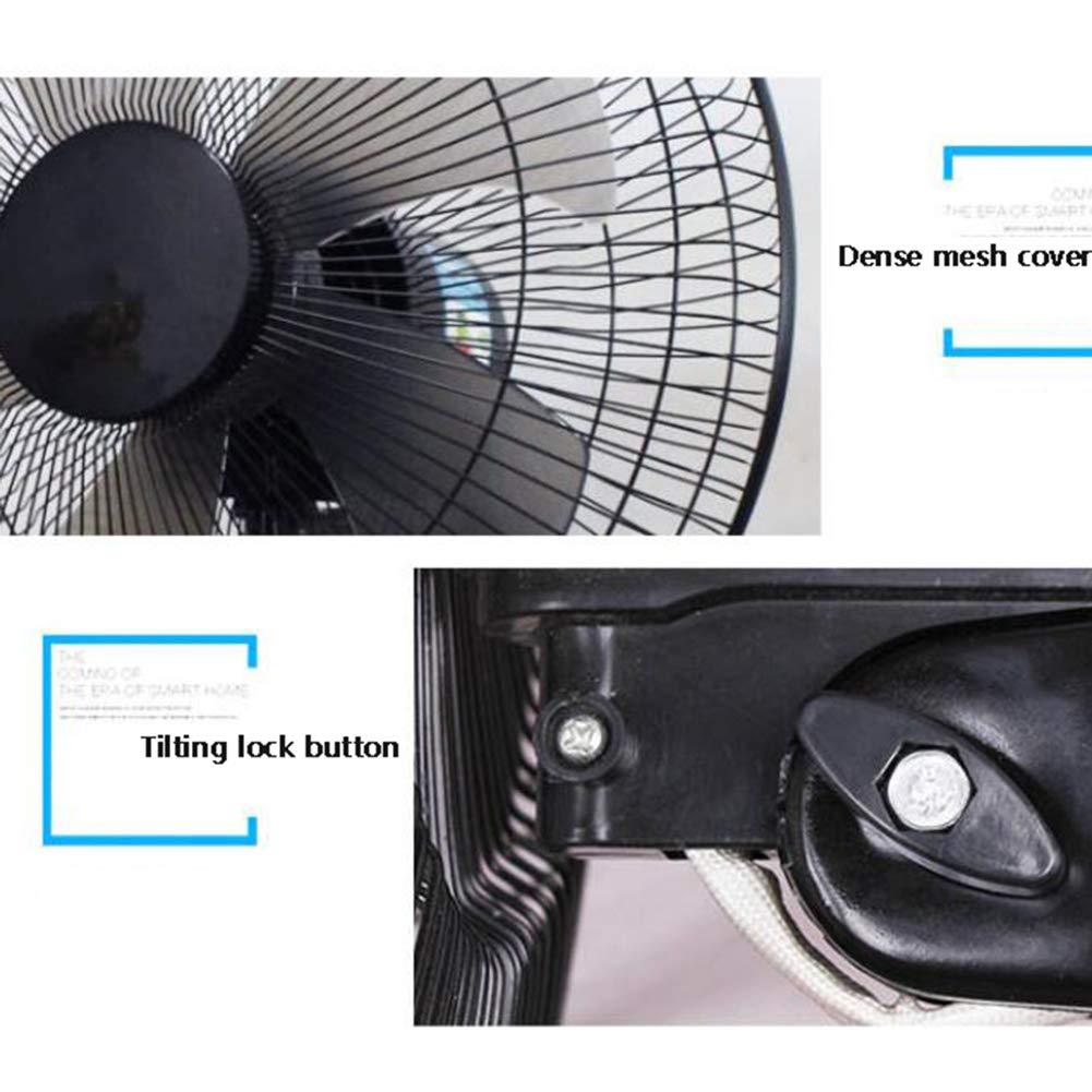 inclinable pour la Maison et Le Bureau Ventilateur mural 16 Pouces Fonctionnement Silencieux /à 3 Vitesses Noir