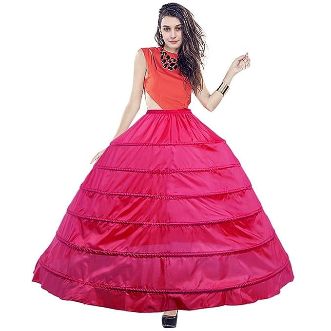 BiBOSS Women\'s Petticoat Skirt Puffy Ball Gown Slip 4 Hoop Crinoline ...