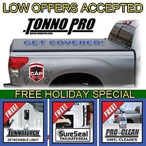 2007 2008 2009 2010 2011 2012 Toyota Tundra Tonno Pro Tri Fold Soft Tonneau 6.5' Truck Bed Cover with bonuses