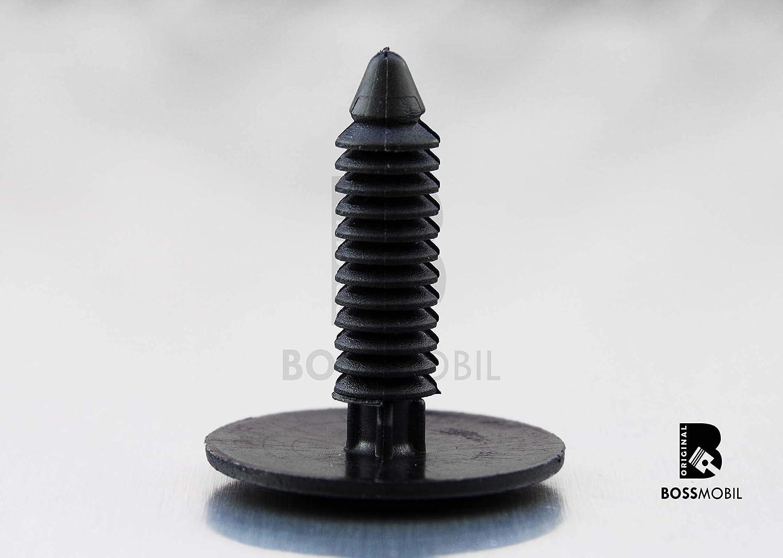 ORIGINAL BOSSMOBIL rivets d/écartement agraf/é de retenue support//support//dispositif de retenue universel Nouveau 12 X 14 X 6 mm