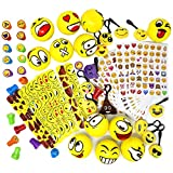 Joyin Toy 68 Pieces Assorted Kids Emoji Birthday Party Supply Children Emoji Stress Relief Toys