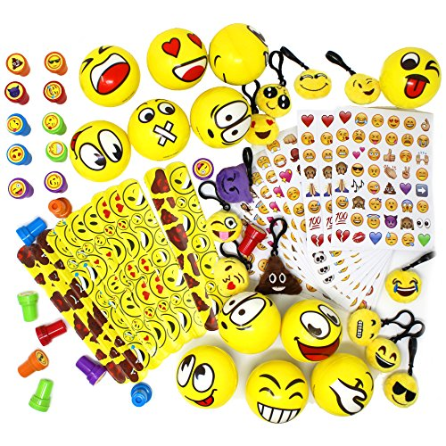 68 Piece Assorted Emoji Party Favor Pack