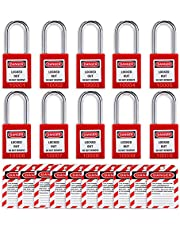 Lockout Tagout Locks Loto Tags - Lockout Locks Keyed Different Safety Padlocks Lockout Station OMGTMD Lock Out Tag Out Kit (20, Red)