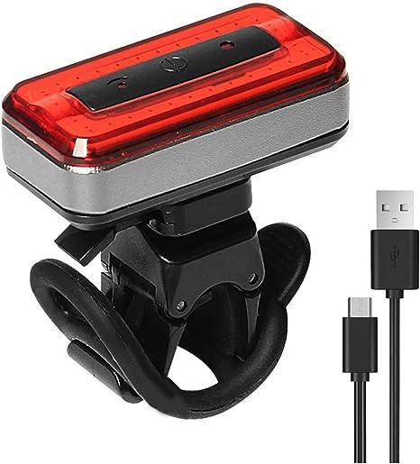 Luces traseras para bicicleta, USB recargable, luz trasera de ...