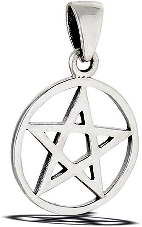 Circle Pentagram Pendant .925 Sterling Silver Triangle Geometric Star Charm