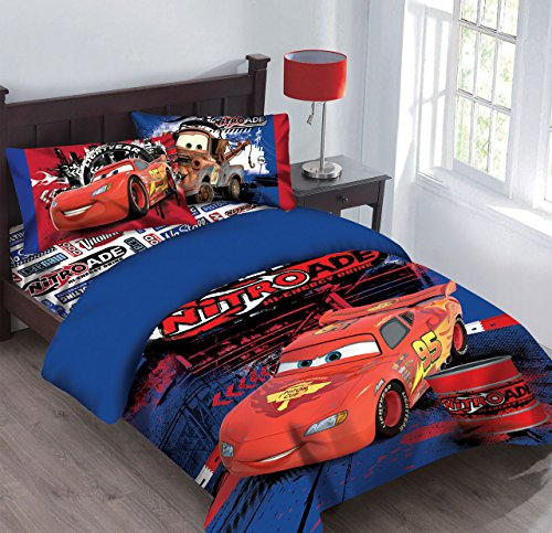 Disney Cars Nitroade Full Bedding Comforter (Lightning Mcqueen Bedding)