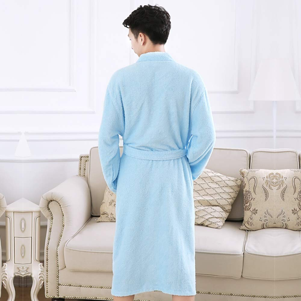 BMM Nightgowns Mens Bathrobes Robe Bath Towels Pajamas Luxury Fashion Long Soft Home Service Casual Pockets /& Belts Hotel Size : Man