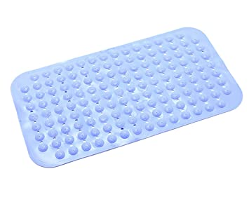 Katech Rutschfest Badteppich Umweltfreundliche PVC Sucker Dusche Matten  Langlebig Sicherheit Badteppich Fuß Massage Boden Pad Blau