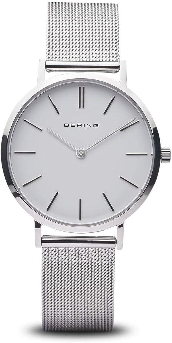 BERING Reloj Analógico para Mujer de Cuarzo con Correa en Acero Inoxidable 14134-004