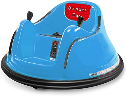 Electric Ride On Bumper Car for Toddlers Boys Girls Aged 1.5+ Remote Control 360 Spin Remote Control Bumper Race Vehicle