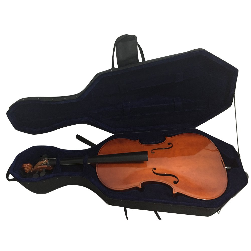 ADM 4/4 Size Lightweight Cello Hard Case with Wheels - Full Size - Black HC11-44