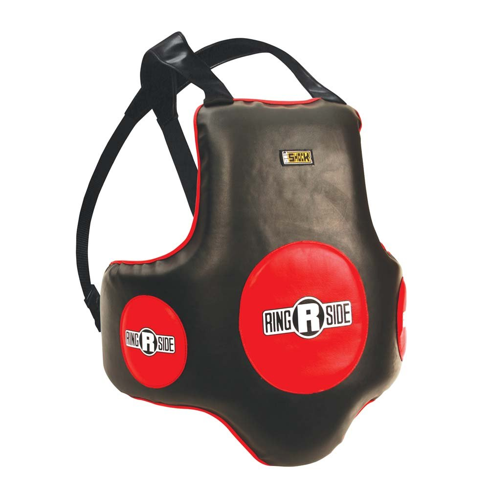 (Black Body/Red) - Ringside Gel Shock Super B006CV4WEG Boxing Muay Boxing Thai MMA Training Chest Shield Rib Guard Body Protector B006CV4WEG, アクアshop:0c71bcf0 --- capela.dominiotemporario.com