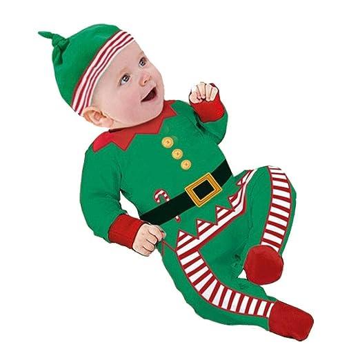 K-youth® Bebe Niño Ropa Navidad Invierno Papá Noel Mameluco Pelele ...