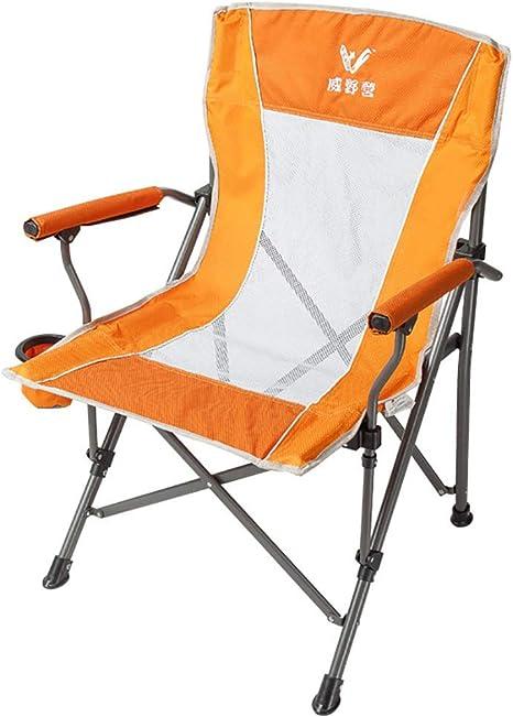 Silla Plegable Camping, Apoyabrazos Portátil Transpirable ...