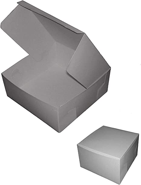 Juego de cajas de cartón plegables para repostería (5