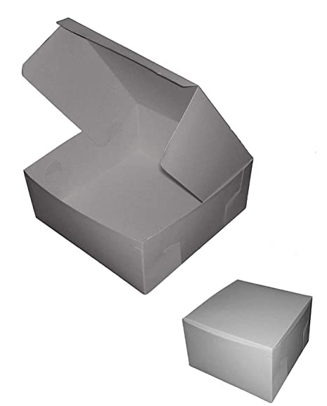 "Juego de cajas de cartón plegables para repostería (5"" x"