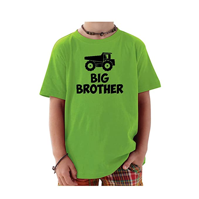 b50b0cdda Amazon.com: We Match! Big Brother Dump Truck Toddler & Kids T-Shirt ...
