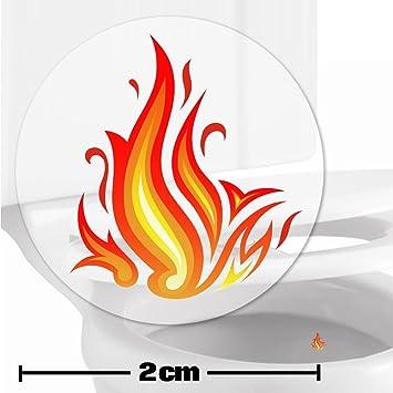 Toilettenhilfe für Kinder Säuglinge Jungs Lustige Badezimmer Bad Töpfchen  Pinkelhilfe 10 x Flammen Zielhilfe Aufkleber (2 cm)