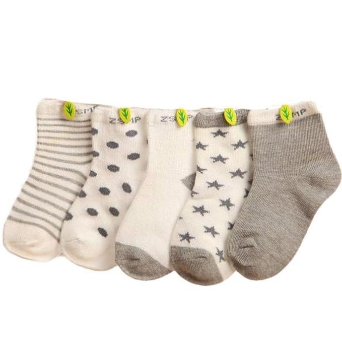 5 Paar Baby Mädchen ABS Antirutschsocken 0-6 M 6-12 M.12-18 M.18-24 M.