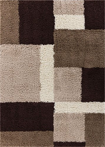 Rectangle Shag Beige Color - 8