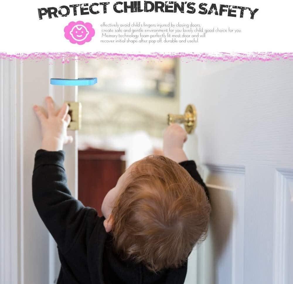 claquements de portes et enfant ou un animal de se Locked dans la chambre for les enfants couverture de s/écurit/é Bouton de porte /évite les blessures doigt Pinch Tout-petit et Mousse porte Stopper