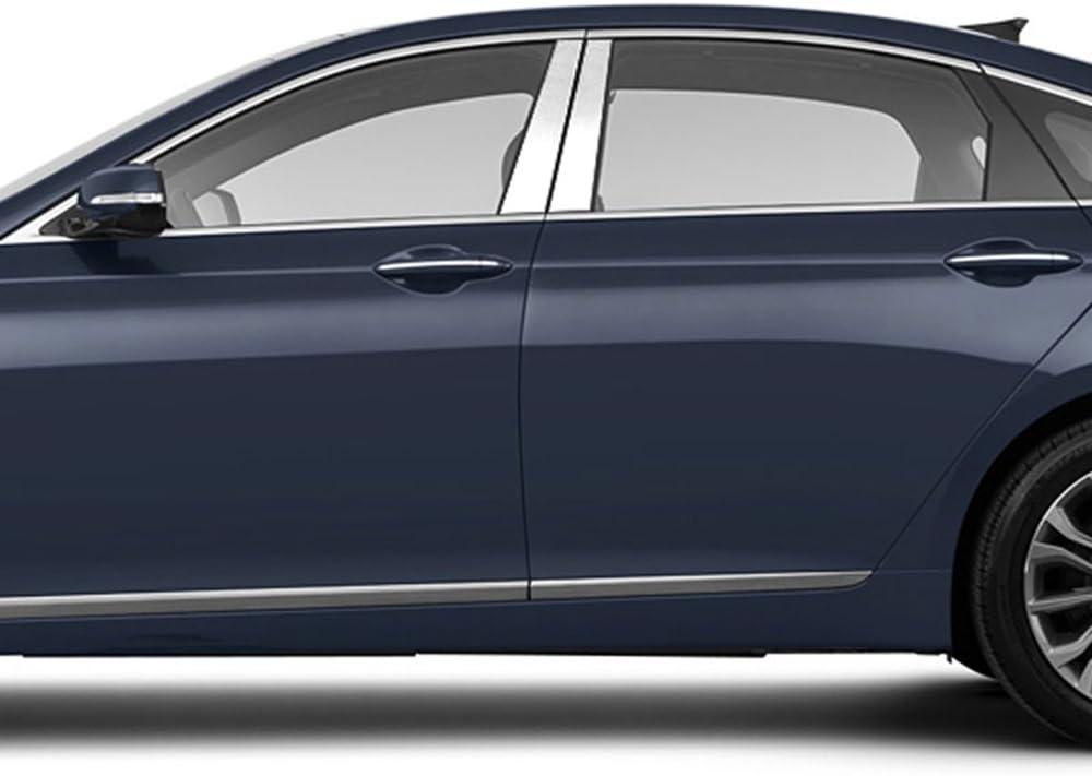 Stainless Steel 4pc Upgrade Your Auto Pillar Post Covers for 2015-2016 Hyundai Genesis Sedan