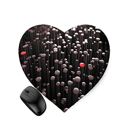 Amazon com : 3D Abstract Render Many pins (Heart-Shaped) Mouse Pad