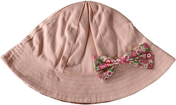 Toddler Girls Bucket Hat Cotton Pink Sun Hat