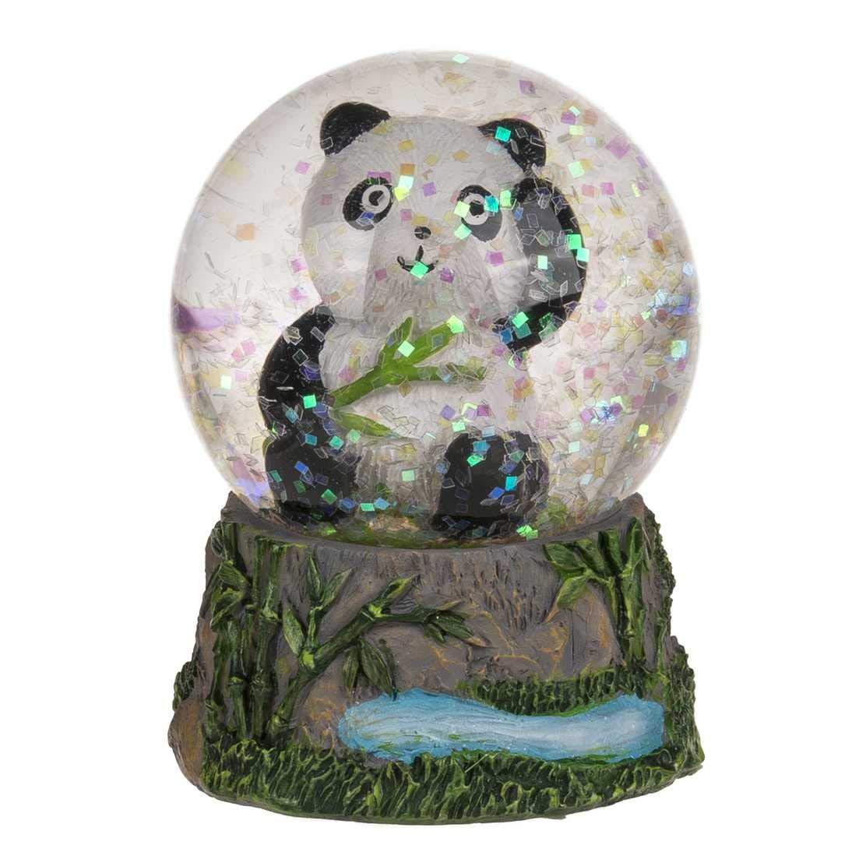 Lot de 2 Boules Glitter en polyresine Panda mod/èle N/°1 OOTB
