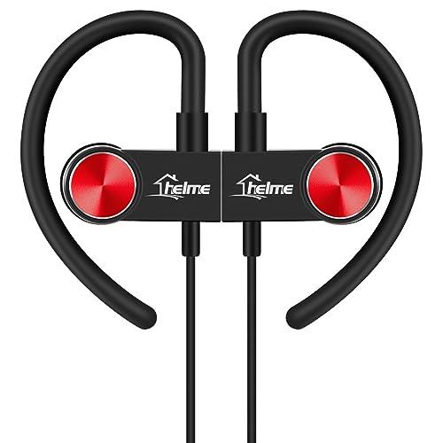 HELME Bluetooth Headphones Wireless for Running sport Earbuds with Mic iphone samsung Earphones Noise Cancelling Handsfree Headset True HD Sound Stereo Earpiece CSR 8645 IPX5 Waterproof Sweetproof