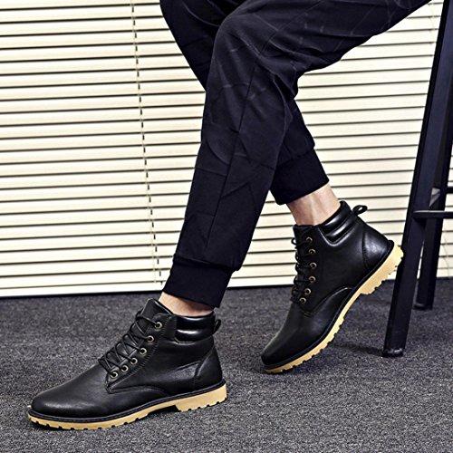 ... Casual Sansee Plate Botte Garniture Basse Automne Chaussures La Noir  Cheville D hiver Bottes Martin ... 2472cbfae092