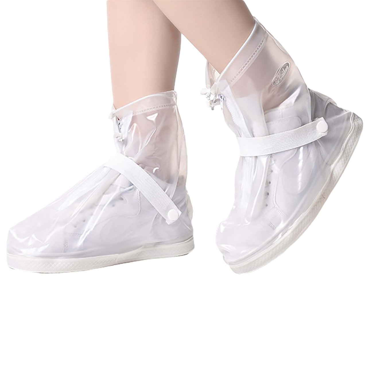 THEE Waterproof Shoes Cover Anti Slip Rain Shoes Cover Rainproof Full Protection Resuable