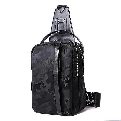 best Men's Leather Chest Bag Crossbody Shoulder Pack Sling Backpack Outdoor Fanny Daypack