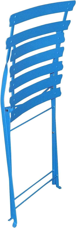 talenti Metall Garten Klappstuhl Gartenstuhl Garten Bistrostuhl Biergarten Stuhl blau