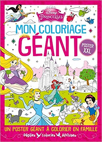 Livre gratuits Princesses : Mon coloriage géant epub pdf