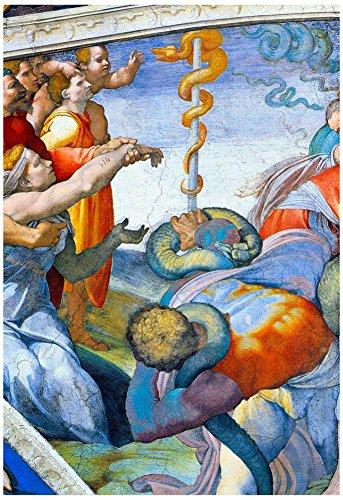 Laminated Michelangelo Bronze Snake Art Print Poster
