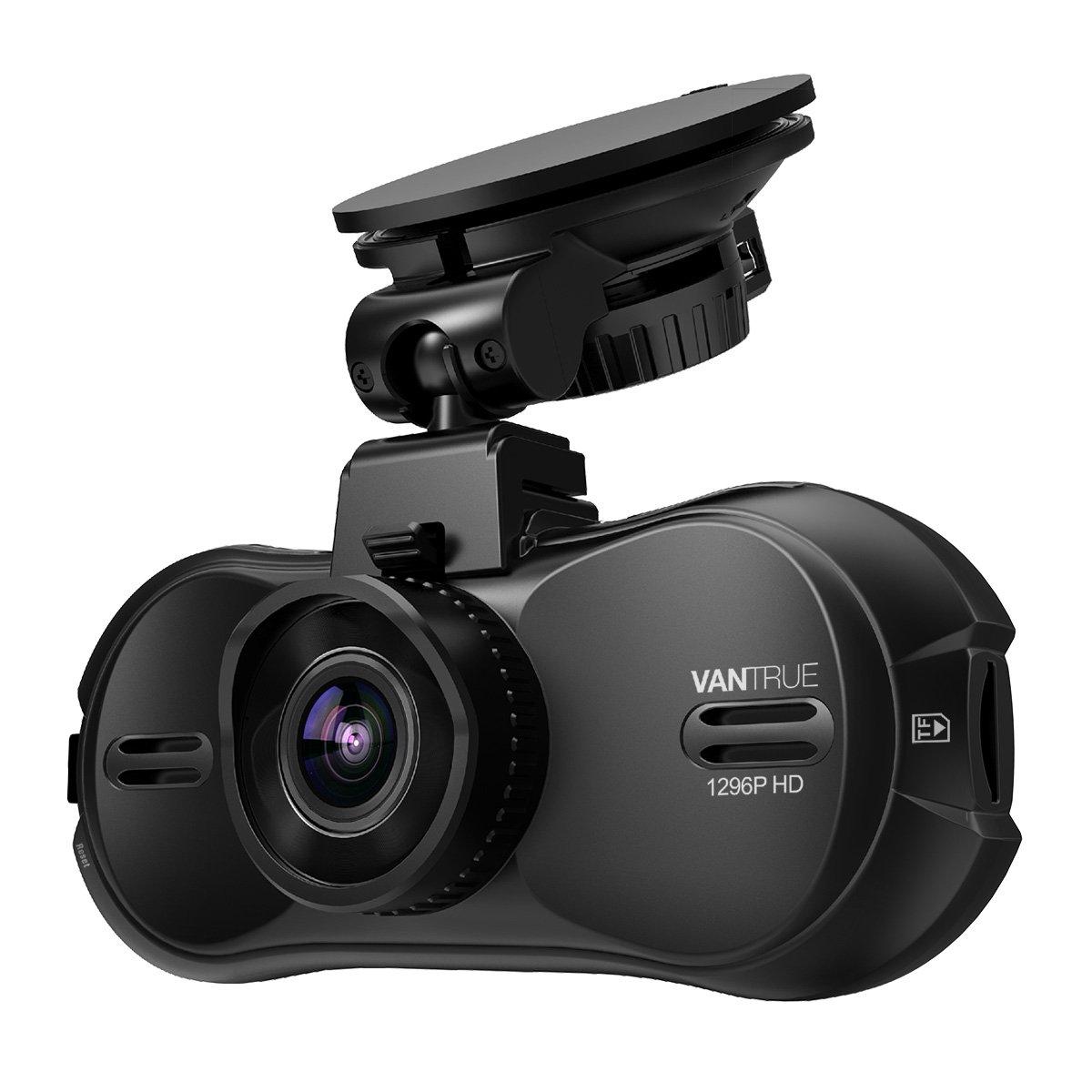 Vantrue R3 Rechargeable 2K Dash Cam Super HD 2304x1296P 1920x1080P 170° Car Camera Super HDR Night Vision, 24 Hours Parking Mode, Motion Sensor, Support up to 256GB, Optional GPS for 12V-24V Car Truck