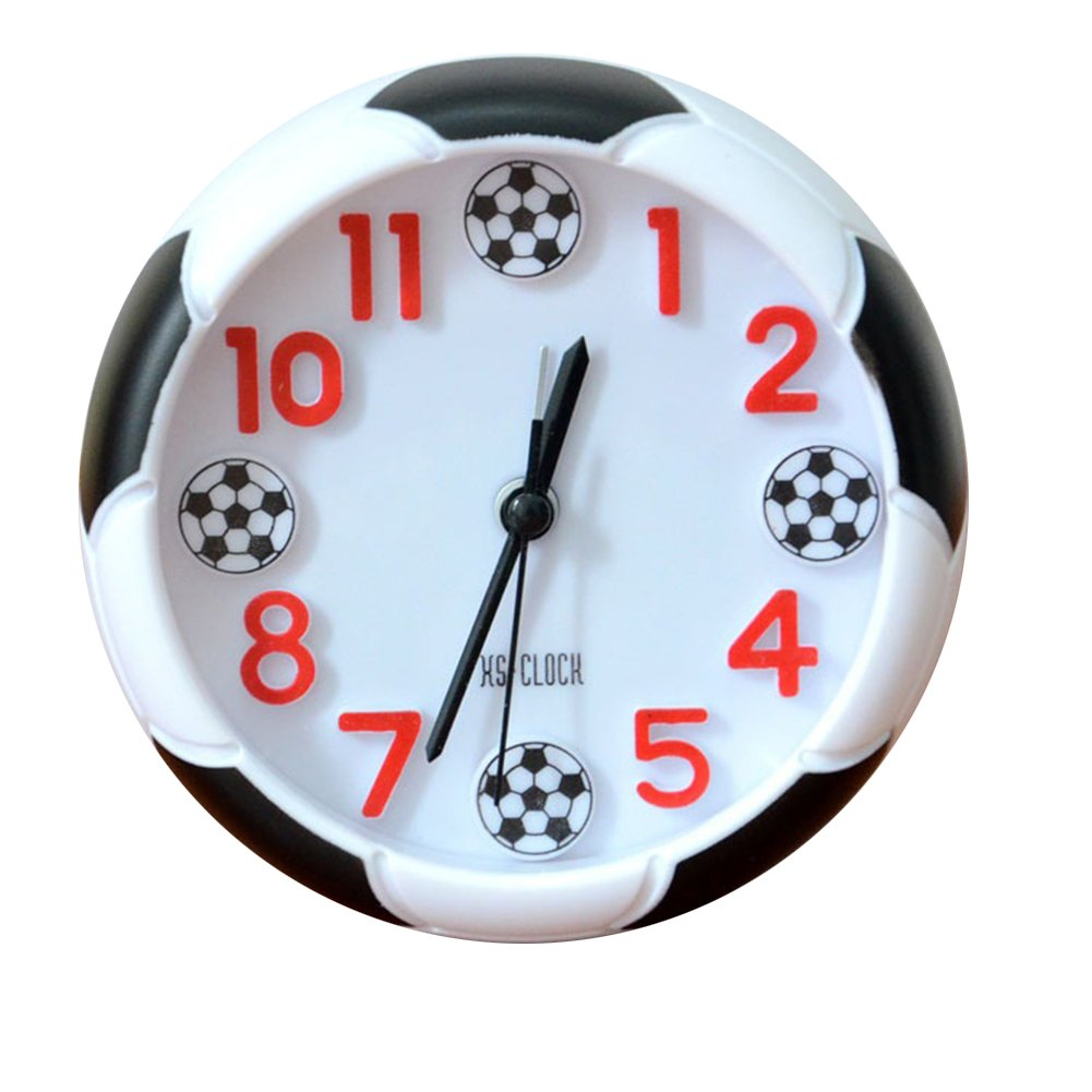 Dontdo Creative Football Pattern Alarm Desk Stand Clock for Home Room Kitchen Office