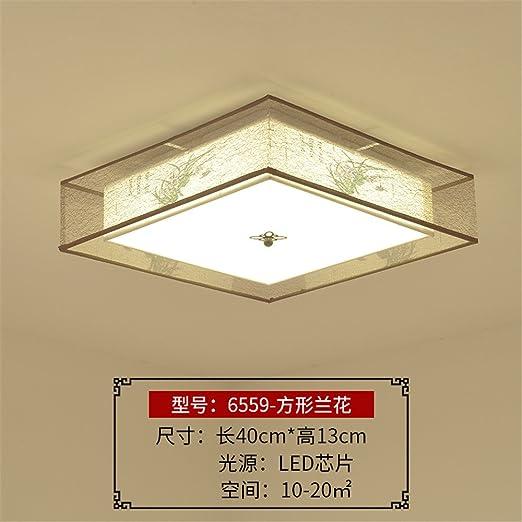 Gunxifacai Luz de techo chino salón Ronda Románticas Dimmer ...
