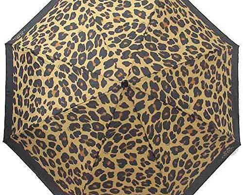 Coach Full Size Umbrella Leopard Print F41031