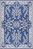 best screened patio design ideas Mad Mats Garland Indoor/Outdoor Floor Mat, 6 by 9-Feet, Blue and White