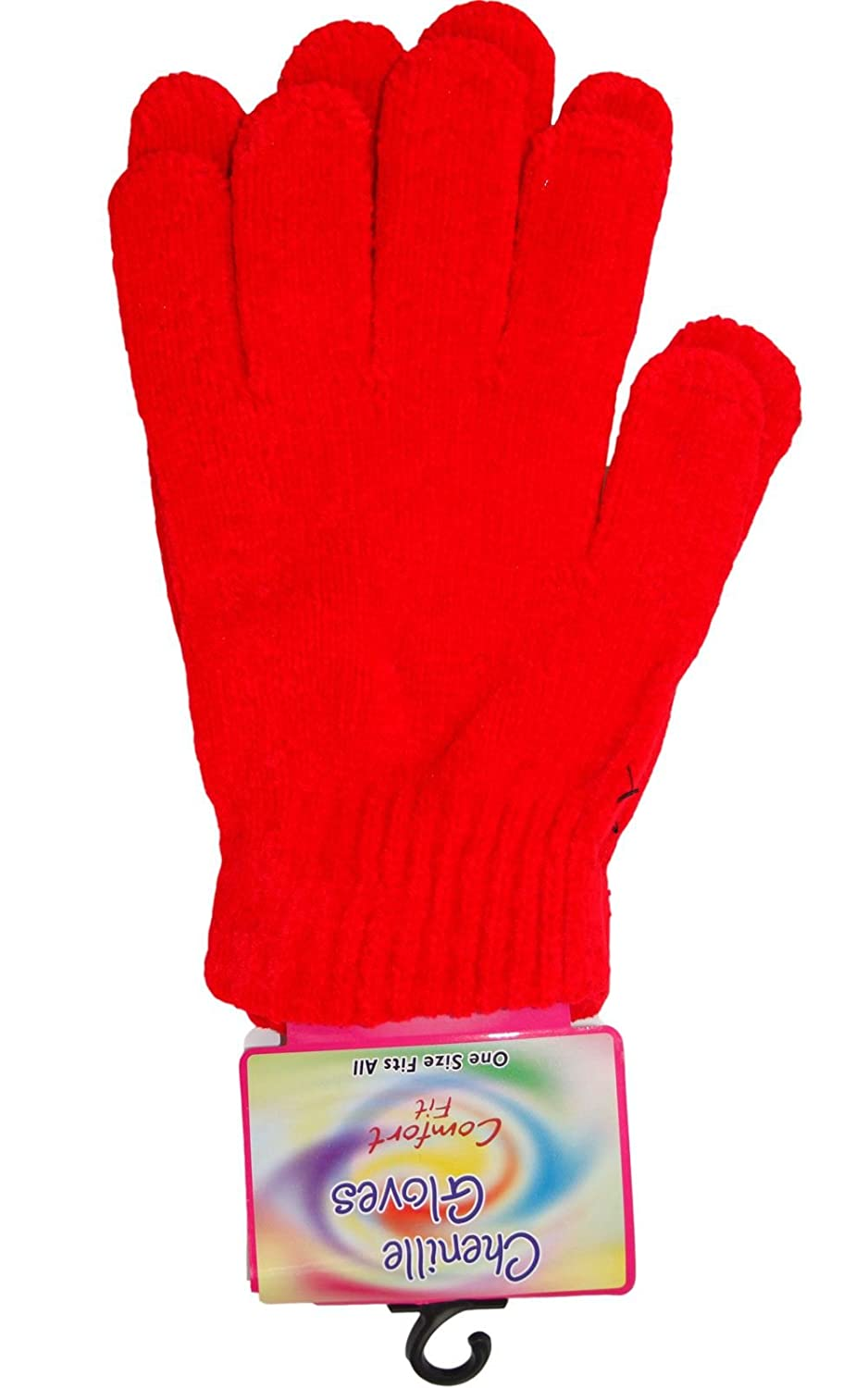 Chenille Ladies Woolly Stretchable Gloves