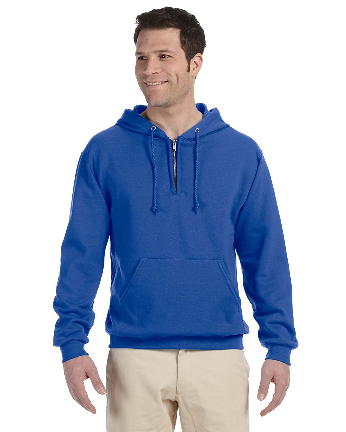 Jerzees 8 oz., 50/50 NuBlend Fleece Quarter-Zip Pullover Hooded Sweatshirt 994MR