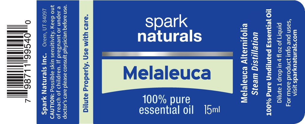 Melaleuca (Tea Tree) Essential Oil 15ml Spark Naturals - 100% Pure Therapeutic Grade, Highest Organic Quality, Aromatherapy, Natural Product- Diffuser & Humidifier Friendly