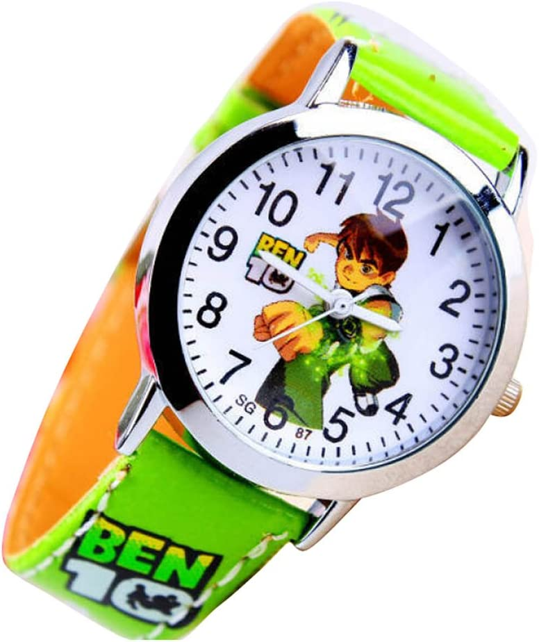 Ben 10 Watch Children Kids Cartoon Watches Band WP@KTW167076G